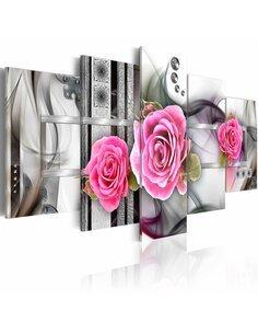 Tableau - 5 tableaux - Fantaisie et roses - par Artgeist