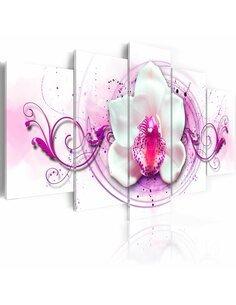 Tableau - 5 tableaux - Orchidée - expression rose - par Artgeist