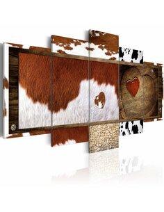 Tableau - 5 tableaux - Mix of textures - par Artgeist