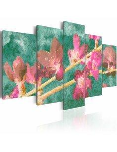 Tableau - 5 tableaux - Japan flower - par Artgeist