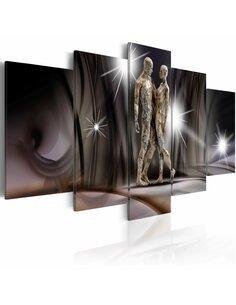 Tableau - 5 tableaux - Golden touch Amour Artgeist