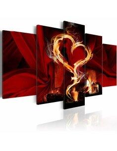 Tableau FLAMES OF LOVE: HEART - par Artgeist