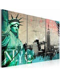 Tableau Triptyque - NYC collage New York Artgeist