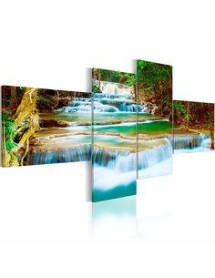 Tableau - 4 tableaux - Cascade river - par Artgeist