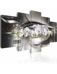 Tableau STEEL ORCHIDS - par Artgeist