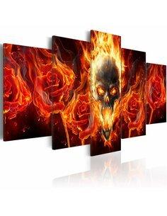 Tableau - 5 tableaux - Fiery skull Personnages Artgeist
