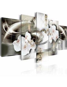 Tableau ORCHIDS AMONG THE WAVES OF GOLD - par Artgeist