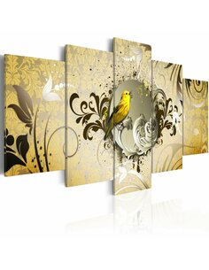 Tableau YELLOW BIRD SINGING - par Artgeist
