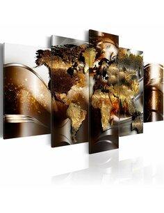 Tableau HONEY CONTINENTS - Cartes du monde par Artgeist