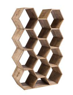 Etagere hexagone bois BINBEE - par J-Line
