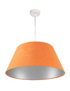 Suspension Orange intérieur Argent BIG BELL - par BPS Koncept