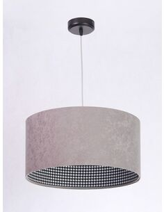 Suspension CHEERFUL check gray Gris et Noir - par BPS Koncept