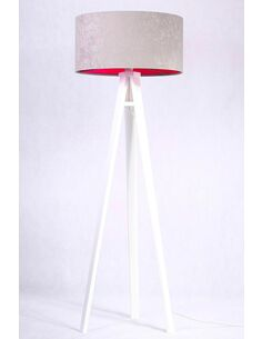 Lampadaire KAMELIA pink Gris et Rose - par BPS Koncept