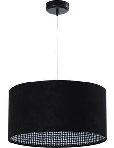 Suspension CHEERFUL check black Noir et Gris - par BPS Koncept
