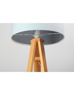 Lampadaire CHEERFUL check white Blanc et Or - par BPS Koncept