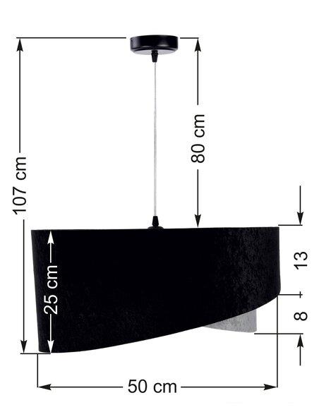 Suspension ASYMETRIC Noir et Gris - par BPS Koncept