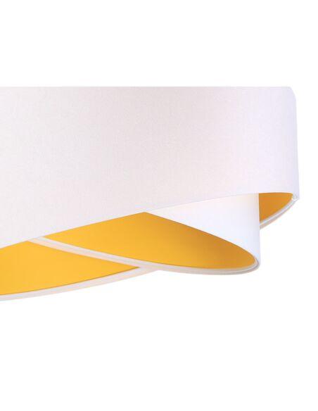 Suspension ASYMETRIC Blanc et Orange - par BPS Koncept