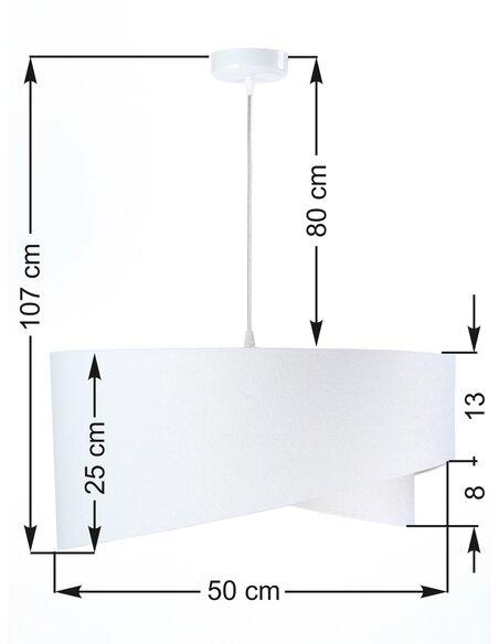Suspension ASYMETRIC Blanc et Violet - par BPS Koncept
