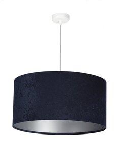 Suspension GLAMOUR Velour Bleu avec Intérieur Argenté - par BPS Koncept