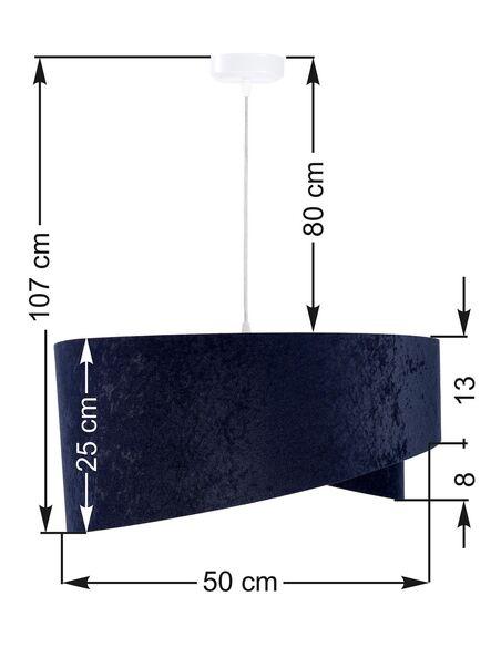 Suspension ASYMETRIC Bleu et Or - par BPS Koncept