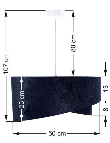 Suspension ASYMETRIC Bleu et Multicolore - par BPS Koncept