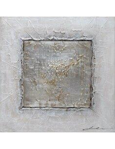 Tableau peint Aluminium Argent CARRÉ  - par Arte Espina
