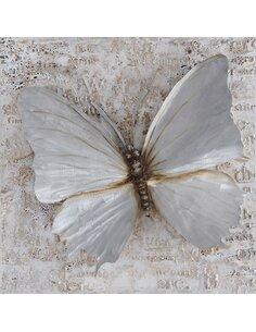 Tableau peint PAPILLON Aluminium  - par Arte Espina