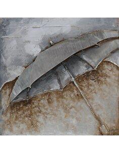 mural aluminium parapluie 80cm x 80cm Modernes Arte Espina