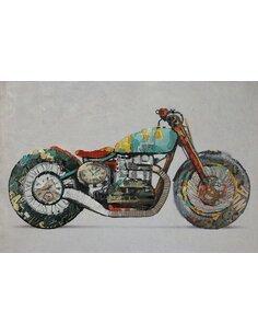 Tableau peint huile MOTO - par Arte Espina
