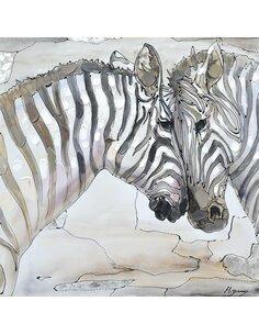 Tableau peint huile STEPPE II  - par Arte Espina