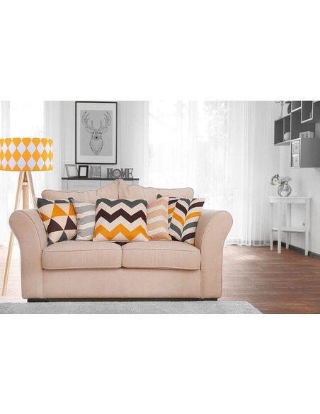 Lampadaire Orange et Bois collection CLASSIC - par BPS Koncept