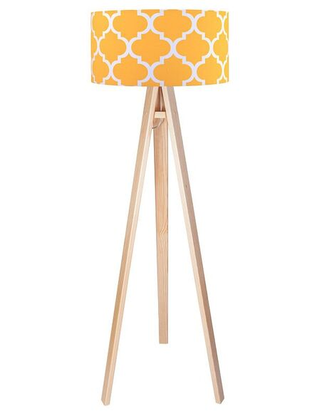 Lampadaire Orange et Bois collection CLASSIC - par BPS Koncept
