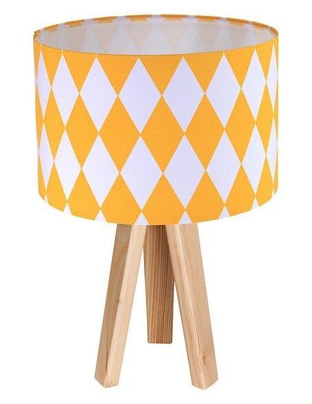Lampe de chevet Orange et Bois Collection CLASSIC - par BPS Koncept
