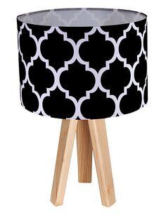 Lampe de chevet Noir et Bois Collection CLASSIC - par BPS Koncept