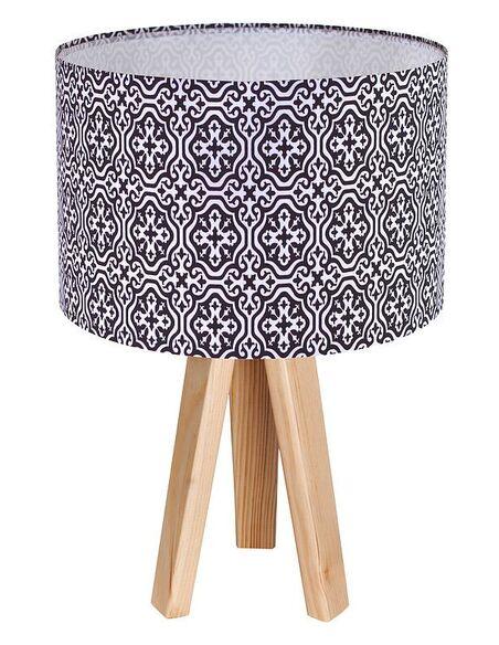 Lampe de chevet Gris et Bois Collection CLASSIC - par BPS Koncept