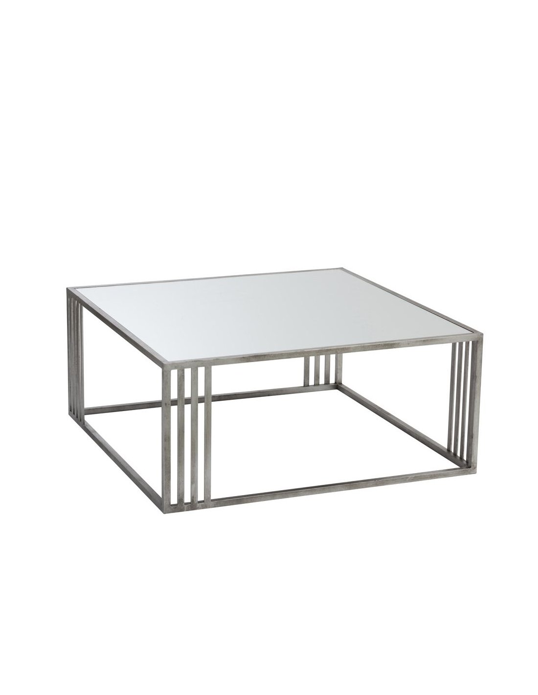 design de qualité e8bee 3cf2a Table basse rectangulaire argent BLACK SPRINGS | J-Line | Argent