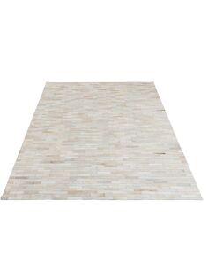 Tapis noisette cuir blanc BLAKEVILLE - par J-Line