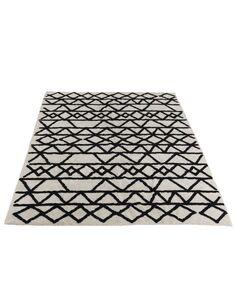 Tapis motifs rectangulaire coton BLAMPIED - par J-Line