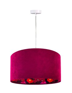 Suspension GLAMOUR Velour Violet avec Intérieur Imprimé Brillant - par BPS Koncept
