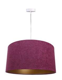 Suspension GLAMOUR Velour Violet avec Intérieur Doré - par BPS Koncept