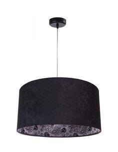 Suspension MODERN Velour Noir avec Intérieur Motif Fleurs - par BPS Koncept