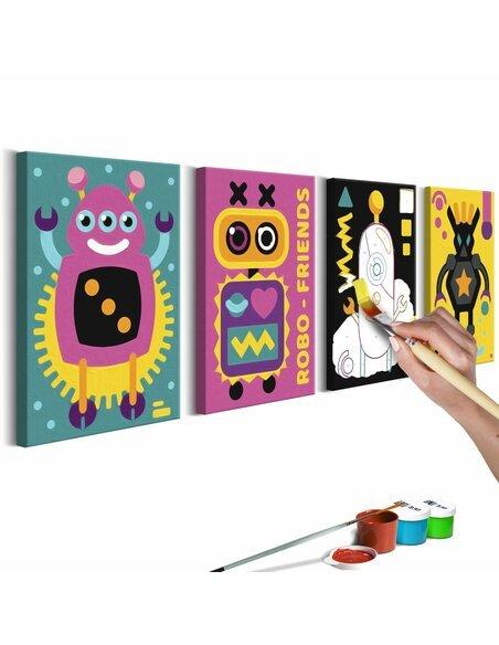 Tableau à peindre soi même ROBOTS - par Artgeist