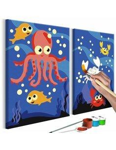 Tableau à peindre soi même AU FOND DE L'OCÉAN - par Artgeist