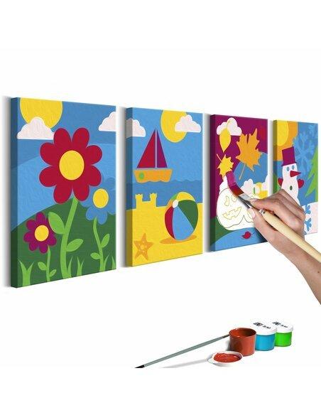 Tableau à peindre soi même SAISONS DE L'ANNÉE - par Artgeist