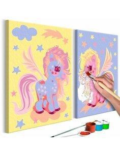 Tableau à peindre soi même LICORNES MAGIQUES - par Artgeist