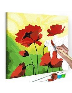 Tableau à peindre soi même POPPIES - par Artgeist