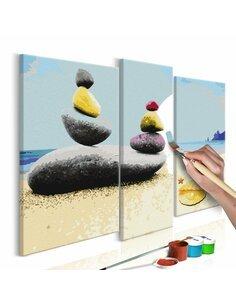 Tableau à peindre soi même PLAGE DE VACANCES - par Artgeist