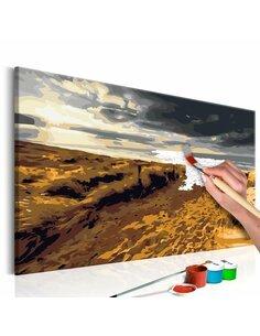 Tableau à peindre soi même PLAGE SAUVAGE - par Artgeist