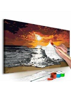 Tableau à peindre soi même MER CIEL ENFLAMMÉ - par Artgeist