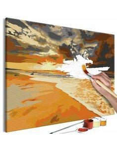 Tableau à peindre soi même PLAGE DORÉE - par Artgeist